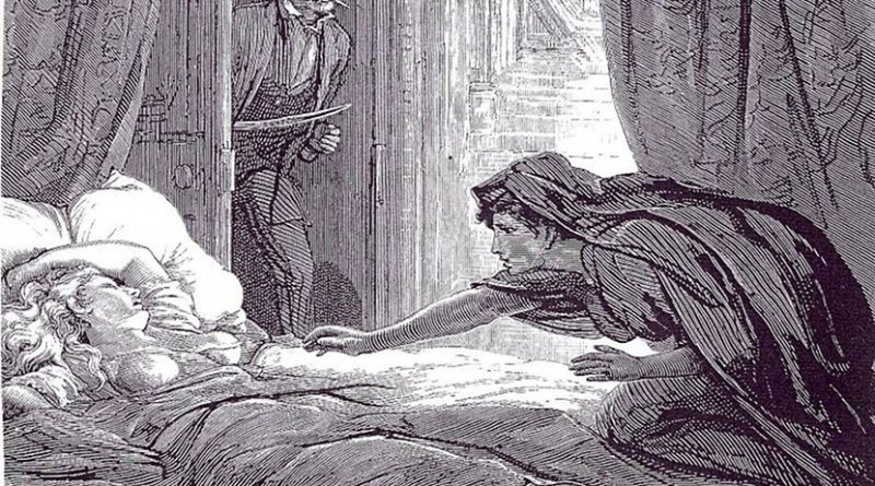 Illustration in Carmilla, Joseph Sheridan Le Fanu's vampire story. Author: David Henry Friston (1820–1906), Wikimedia Commons.