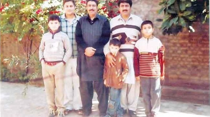 Dr. Shakil Afridi third from left in this released photo.