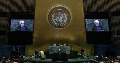 Iran's President Hassan Rouhani addresses United Nations. Photo Credit: Iranian Presidency.