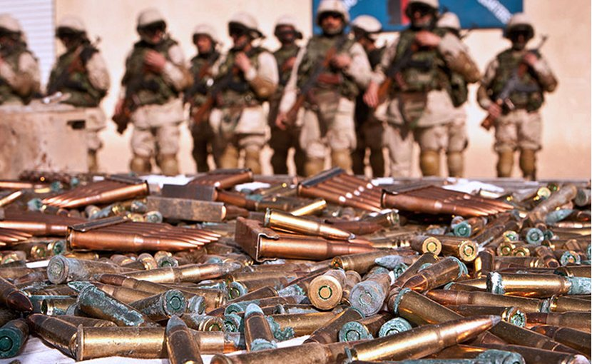 Weapons Haul Seized By Troops in Afghanistan. UK Defense Ministry, Wikimedia Commons.