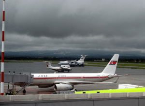 Air Koryo aircraft at the Vladivostok airport. Photo by Leonid Kozlov.