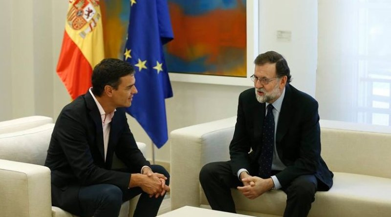 Spain's PM Mariano Rajoy with President of Ciudadanos, Albert Rivera. Photo Credit: Moncloa.