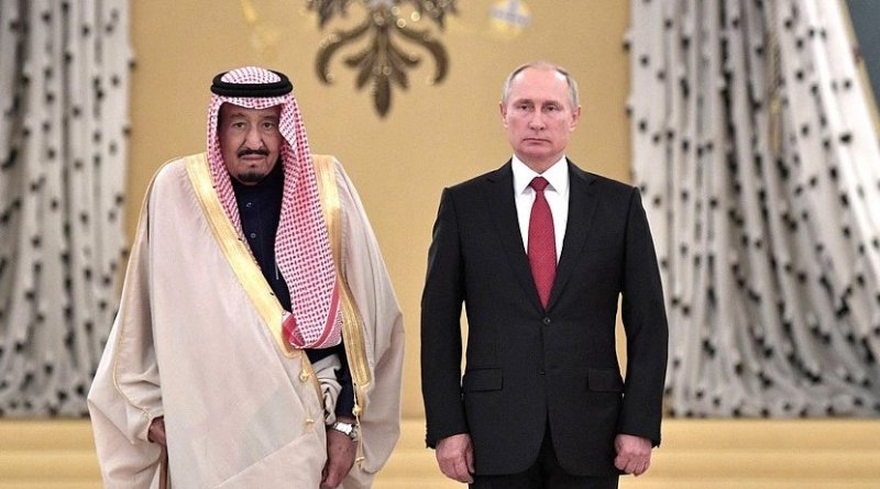 King Salman bin Abdulaziz Al Saud of Saudi Arabia with Russia's President Vladimir Putin. Source: Kremlin.ru