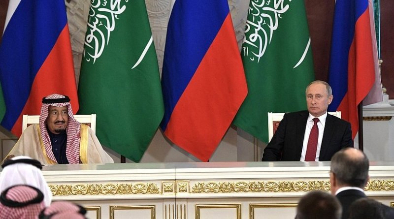 King Salman bin Abdulaziz Al Saud of Saudi Arabia with Russia's President Vladimir Putin. Photo Credit: Kremlin.ru