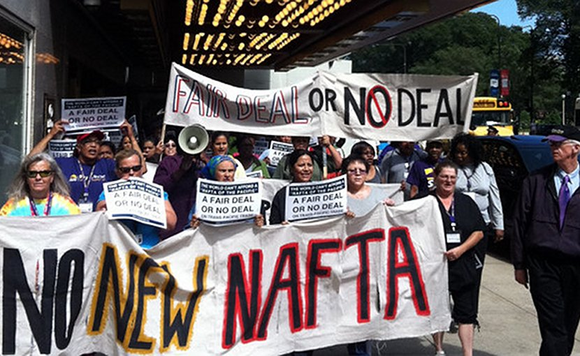 Protesting NAFTA. Photo Credit: Popular Resistance.