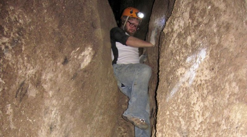 Dr. Bogdan Onac finds bat guano to be a record of paleo-data. Credit Dr. Bogdan Onac, University of South Florida