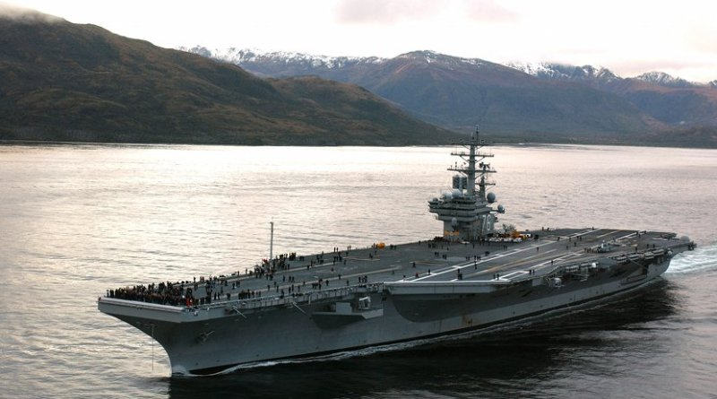 File photo of USS Reagan aircraft carrier. Photo by Mate 3rd Class Elizabeth Thompson, DoD, Wikipedia Commons.