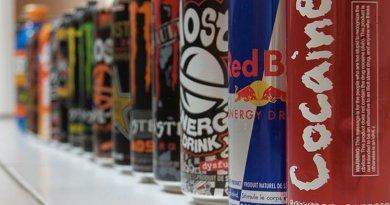 Energy drinks. Photo by Simon Desmarais, Wikimedia Commons.