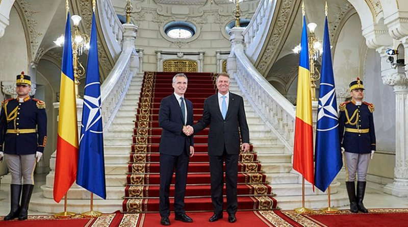 NATO Secretary General Jens Stoltenberg with President of Romania, Klaus Werner Iohannis. Photo Credit: NATO.
