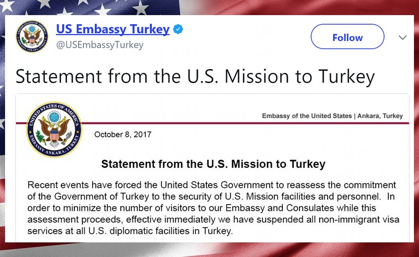 Statement to US Mission to Turkey
