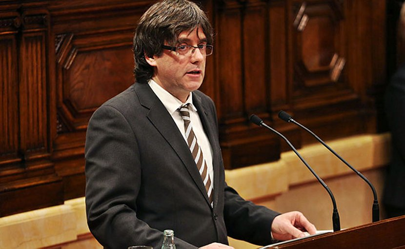 Catalan leader Carles Puigdemont. Photo Credit: Generalitat de Catalunya, Wikimedia Commons.