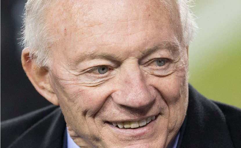 Jerry Jones, owner of Cowboys NFL team. Photo by Keith Allison, Wikimedia Commons.