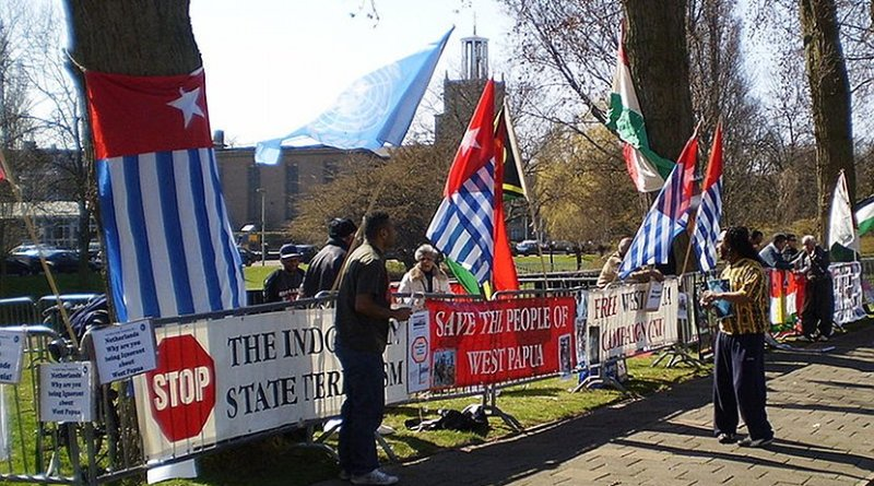 West Papuans demonstrating in The Hague. Photo by Apdency, Wikimedia Commons.