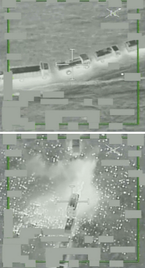 """Coalition Airstrike Destroys 283 Daesh Oil Trucks Near Al Hassakah and Dayr Az Zawr, Syria, to Degrade Daesh Oil Revenue,"" November 22, 2015 (Screenshot: Combined Joint Task Force–Operation Inherent Resolve video)"