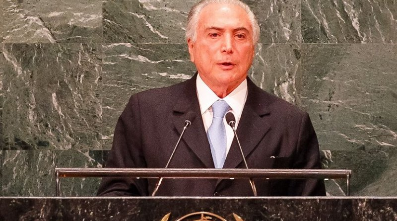 Brazil's Michael Temer at United Nations . Source: Wikimedia Commons.