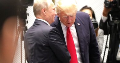 Russia's President Vladimir Putin with President of the United States Donald Trump. Photo Credit: Kremlin.ru