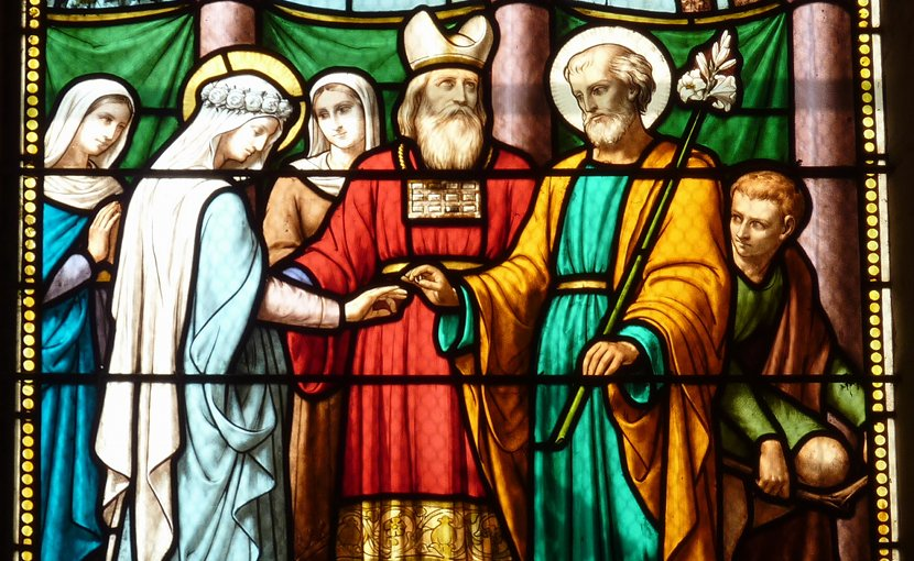 Marriage of the Virgin, Saint-Quiriace de Provins. Photo by GFreihalter, Wikipedia Commons.