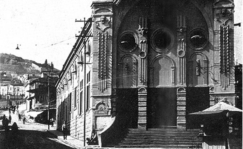 Historical photo of the Trabzon Opera House.