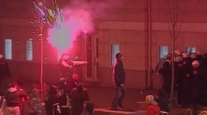 Attack on the US embassy in 2008. Photo: N1/Printscreen.