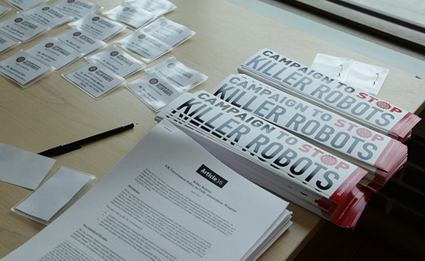 Photo: Sharron Ward/Campaign to Stop Killer Robots