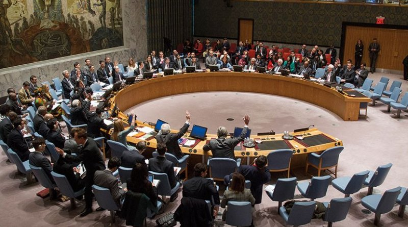 United Nations Security Council unanimously adopts Resolution 2199 (February 12, 2015) condemning any trade, in particular of oil and oil products, with ISIL (Daesh), Al-Nusrah Front, and any other entities designated as associated with al Qaeda (Courtesy UN/Loey Felipe)