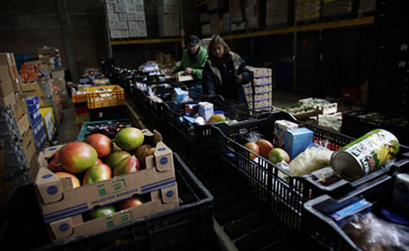 A food bank. File photo Wikimedia Commons.