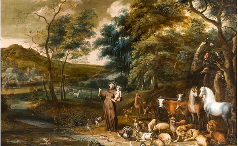 Saint Anthony with the Animals, by Lambert de Hondt and Willem van Herp. Wikipedia Commons.