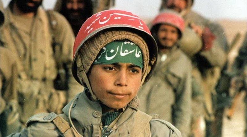 Child soldier during the Iran–Iraq War. Source: Wikipedia Commons.