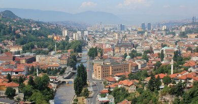 Sarajevo, Bosnia and Herzegovina. Photo by Julian Nitzsche, Wikipedia Commons.