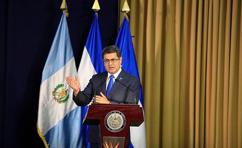 Honduras' Juan Orlando Hernández. Photo Presidencia El Salvador, Wikimedia Commons.