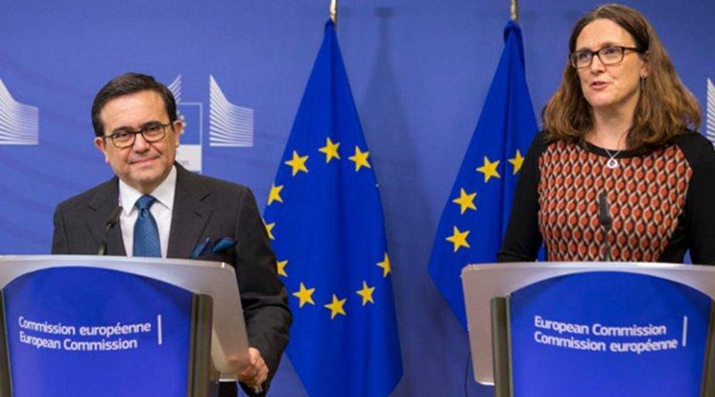 Ildefonso Guajardo Villarreal, on the left, and Cecilia Malmström. Photo: European Commission