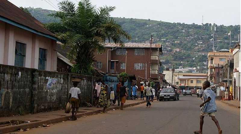 Freetown, Sierra Leone. Photo by Annabel Symington, Wikimedia Commons.