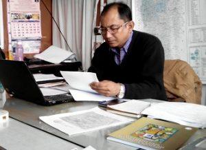 B N Chawdhury in Sericulture Office Aizwal