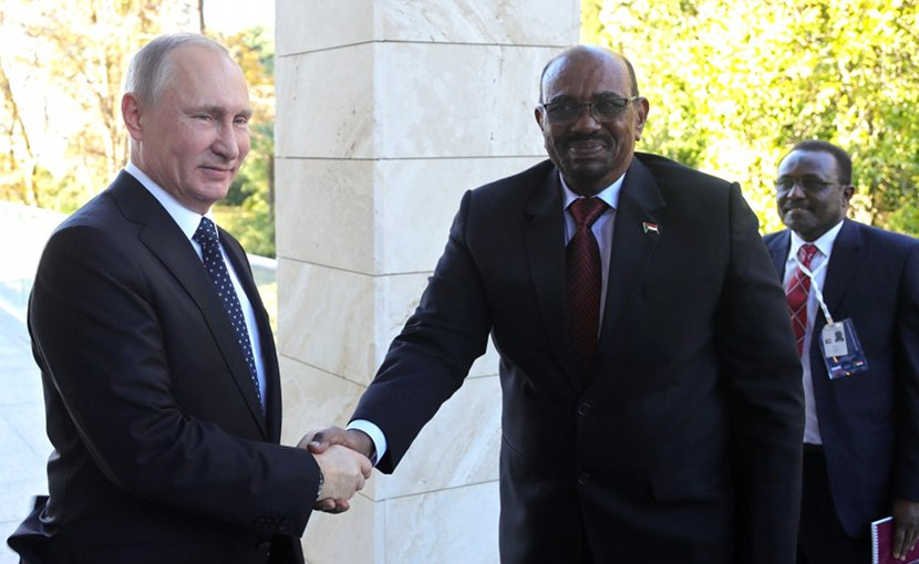 Russia's President Vladimir Putin with President of the Republic of the Sudan Omar Al-Bashir. Photo Credit: Kremlin.ru
