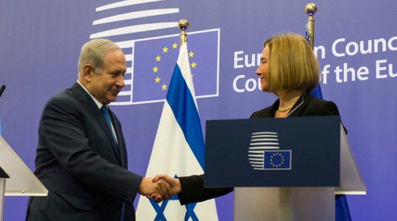 Israeli Prime Minister Benjamin Netanyahu with EU foreign affairs chief Federica Mogherini. Photo Credit: European Council.