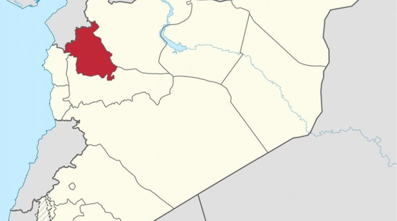 Map of Syria with Idlib highlighted. Source: Wikipedia Commons.