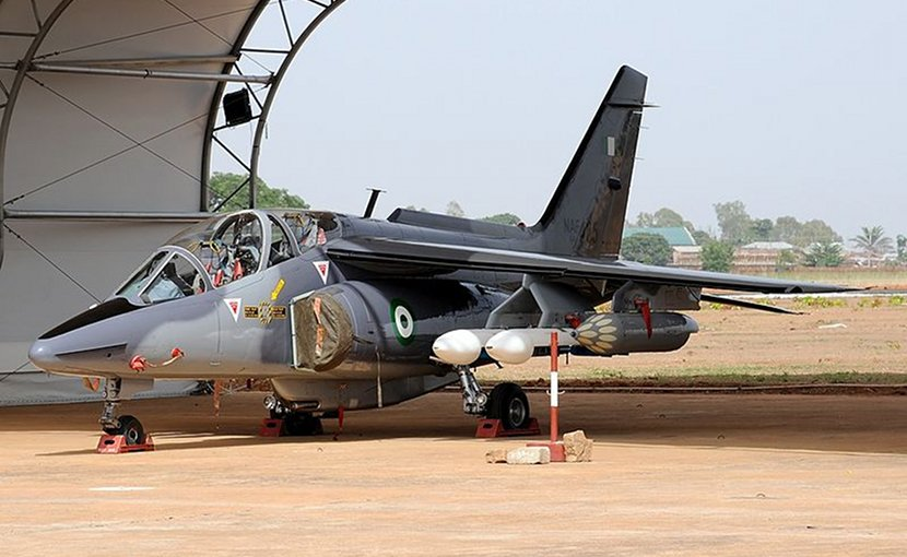 Nigerian Air Force Dassault-Dornier Alpha Jet. Photo by Kenneth Iwelumo, Wikimedia Commons.