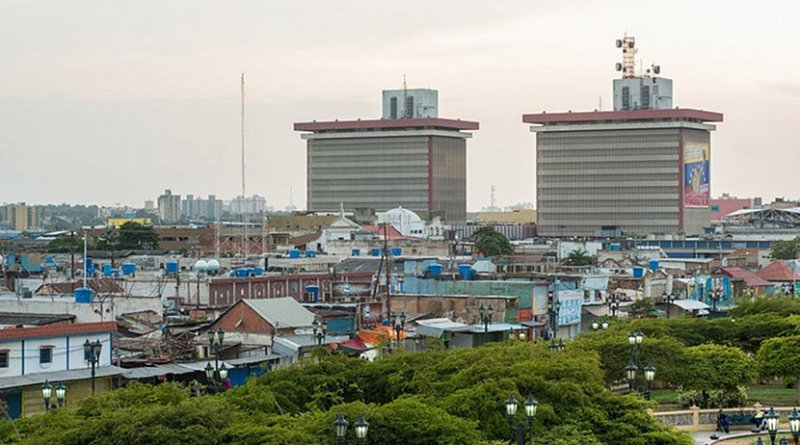 PDVSA Towers in downtown Maracaibo, Venezuela. Photo by The Photographer, Wikimedia Commons.