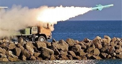 Iran Army fires cruise missile in war game. Photo Credit: Tasnim News Agency.