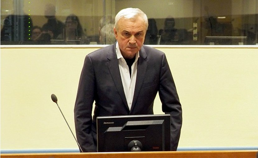Former Serbian State Security Service chief Jovica Stanisic in court. Photo: MICT.