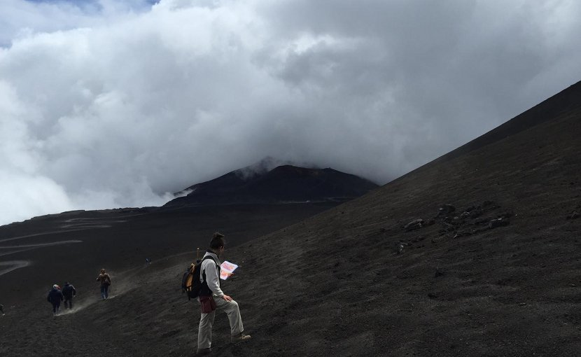 This is Dr. Teresa Ubide at Mt. Etna, Sicily Credit Teresa Ubide