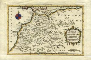 Ancient map of the Empire of Morocco