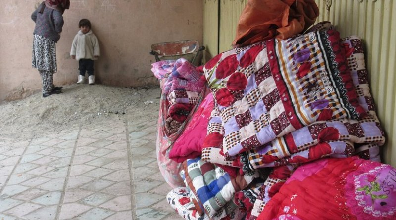 Duvets delivered to the Borderfree Center (photo: Sabia Rigby)