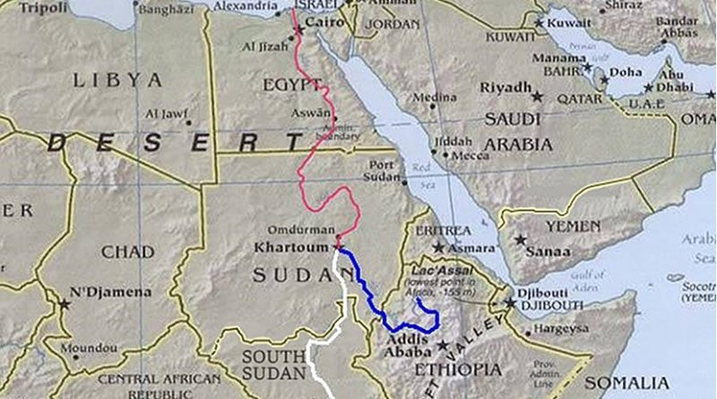 The Nile, its tributaries, and the countries of the region. Source: Wikipedia Commons.