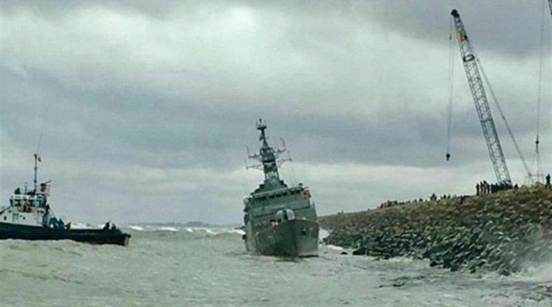 Iran's Damavand destroyer in the Caspian Sea. Photo Credit: Tasnim News Agency
