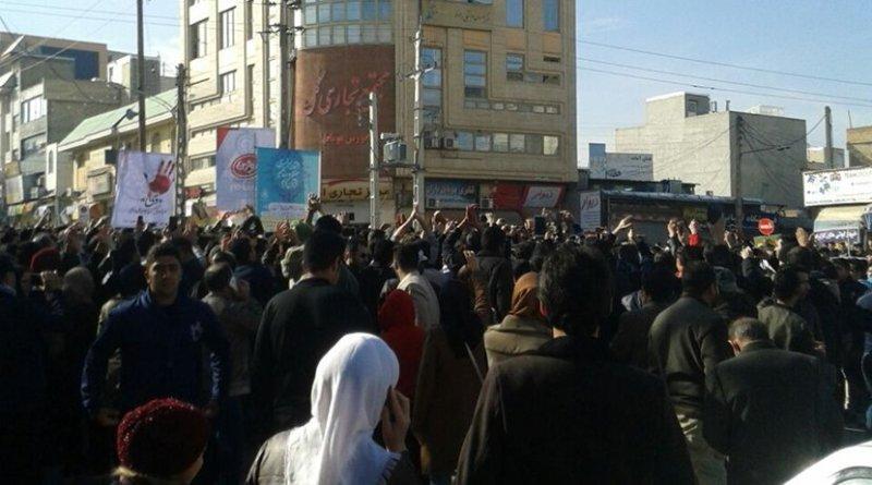 December 2017 protests in Kermanshah, Iran. Photo Credit: VOA