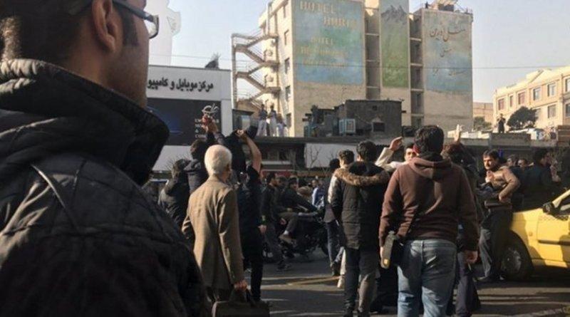 December 30, 2017 protests in Tehran, Iran.