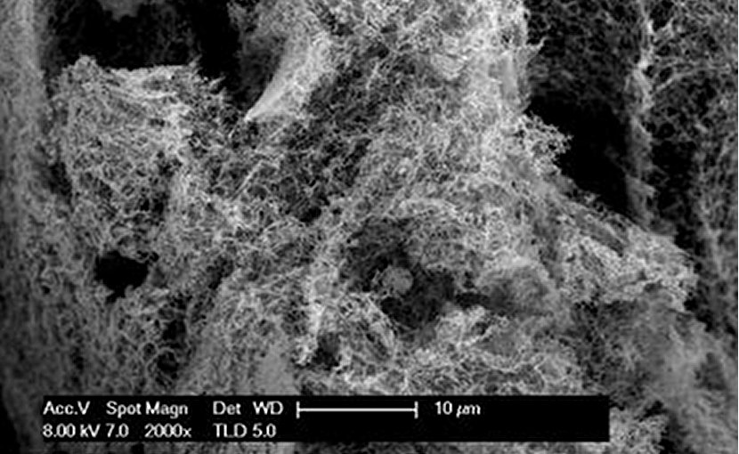 WSU researchers have found a way to create large amounts of inexpensive nanofoam catalysts that can facilitate the generation of hydrogen on a large scale by splitting water molecules. Credit Washington State University