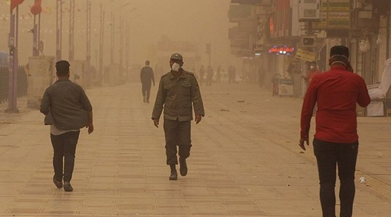 Air pollution in Ahvaz, Khuzestan Province, Iran. Photo by Ali Moarref, Tasnim News Agency