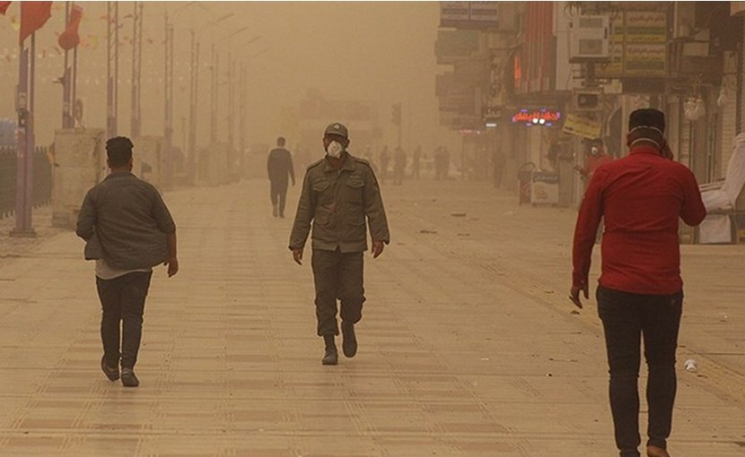 Air pollution in Ahvaz, Khuzestan Province, Iran. Photo by Ali Moarref, Tasnim News Agency